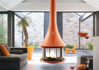 exemple cheminées métallique - l'univers du feu 1