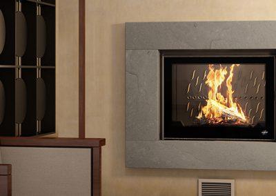 exemples modèles cheminées à bois - l'univers du feu