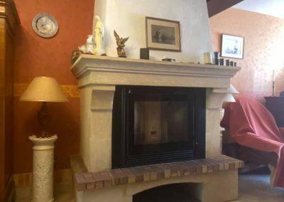 installations clients cheminées - l'univers du feu